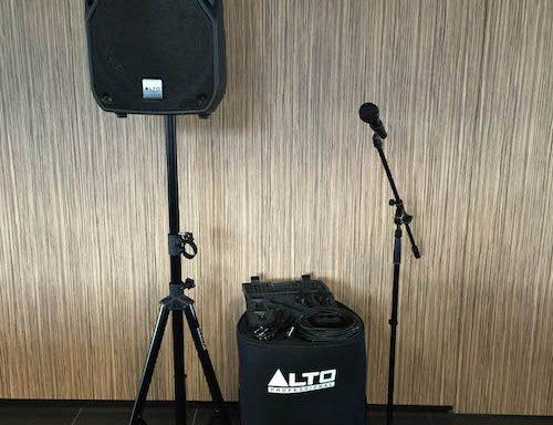 Beperkte geluidsinstallatie (800 Watt set)